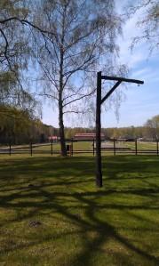 Hangman's noose Stutthof Nazi Death Camp Gdansk Poland