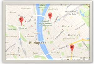Map of CIB sites in Budapest