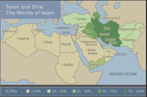 % of Shia by Country