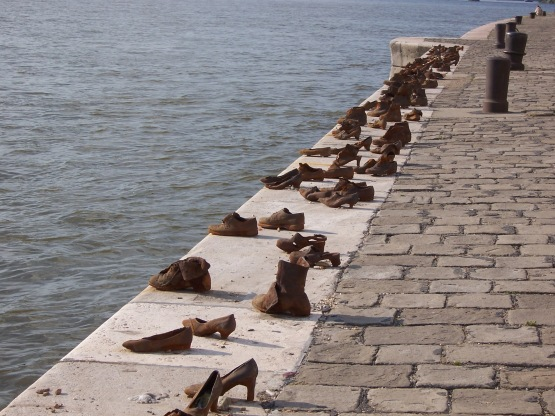 Budapest WWII Memorial to those murdered on the banks of the Danube River 1944-1945 by ArrowCross Militia