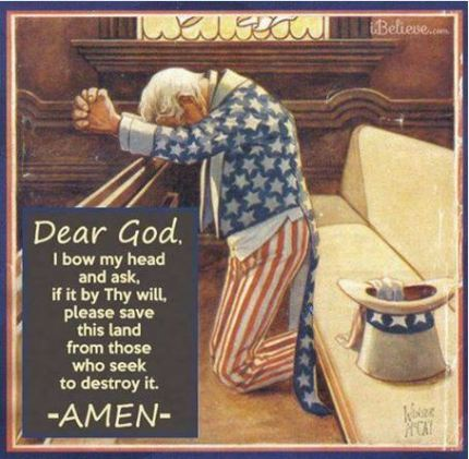 Uncle Sam praying