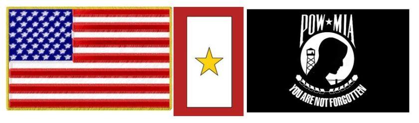 American flag Gold Star POWMIA