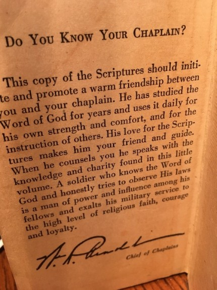 chaplain note