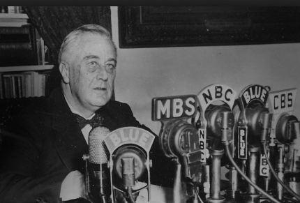 Roosevelt on radio